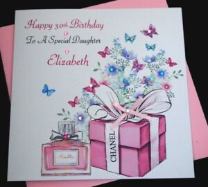 Image Is Loading Handmade Personalised Birthday Card Daughter Granddaughter Niece 21st