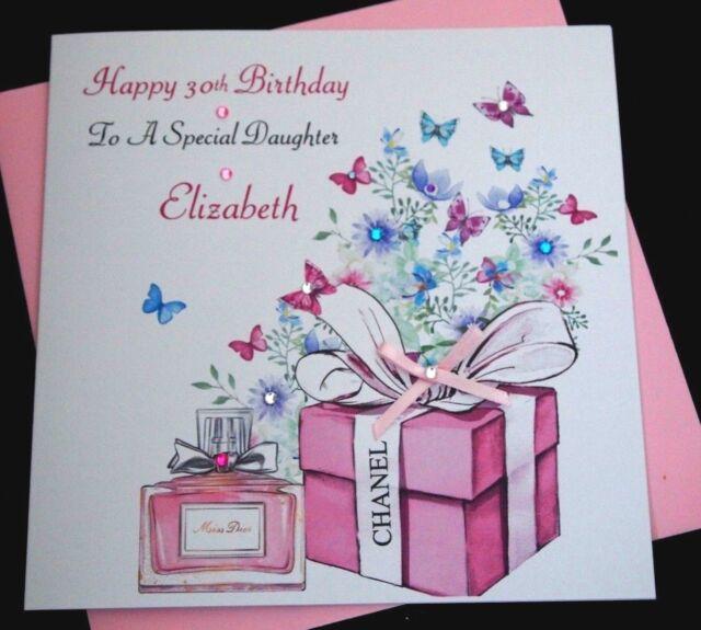 Handmade Personalised Birthday Card Daughter Granddaughter Niece