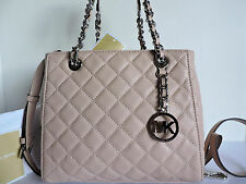 Michael Kors Susannah NS Quilted Ballet Leather Small Tote Satchel Bag NWT