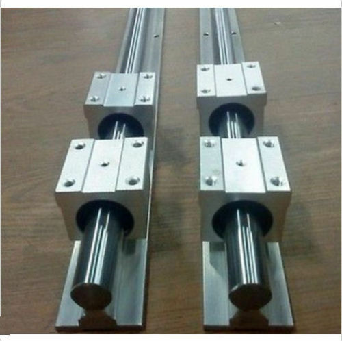20MM SBR20-2500mm LINEAR SLIDE GUIDE SHAFT 2 RAIL+4SBR20UU BEARING BLOCK CNC T