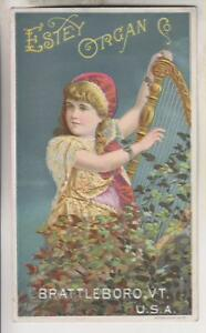 VINTAGE-TRADE-CARD-ESTEY-ORGAN-CO-BRAYYLEBORO-VT-C-F-HARBSTER-CO-READING-PA
