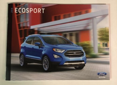 2018 Ford Ecosport 30 pg  New Car Sales Showroom Information Brochure Catalog