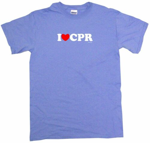 I Heart Love CPR Mens Tee Shirt Pick Size Color Small-6XL