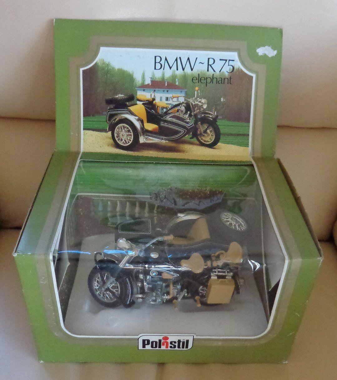 BMW R75 Elephant 1 15 15 15 Replica Sidecar Polistil Vintage 6b2015