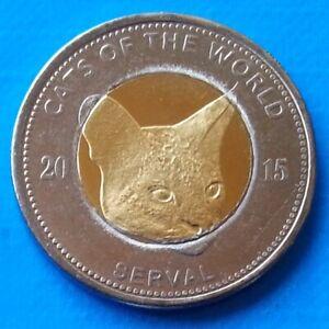 Puntland-25-shillings-2015-UNC-Serval-Cat-Bi-metallic-Bimetal-unusual