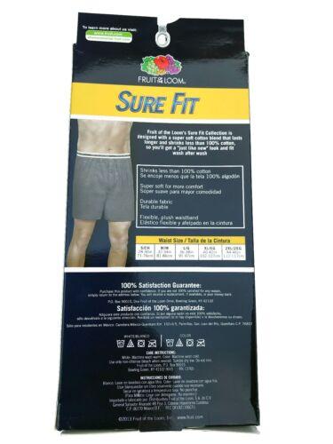 """Fruit of the Loom® Men/'s Knit Boxers 6-pack 2XL  /""""SURE FIT /& SUPER SOFT/""""   EZ3P7"""