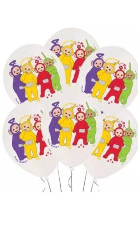 Teletubbies fête d/'anniversaire table cover loot sacs assiettes serviettes ballons