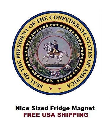 Confederate Presidential Seal Logo Refrigerator Fridge Magnet 580