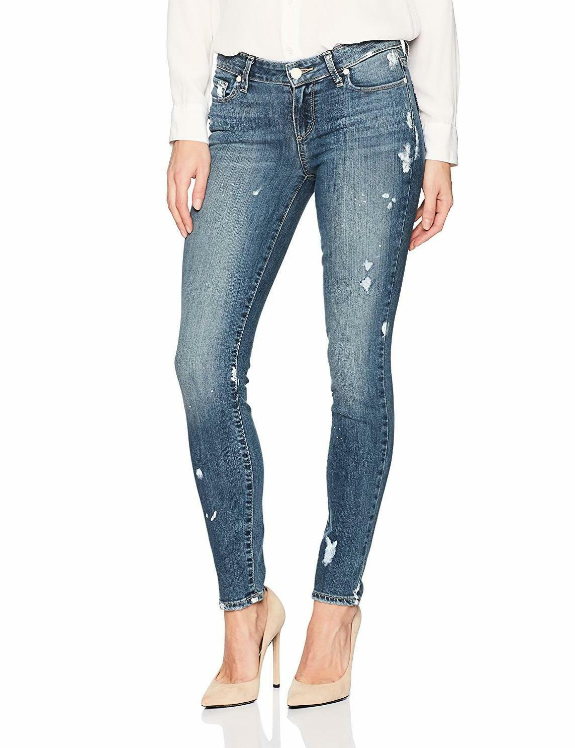 PAIGE Women's Verdugo Ankle Skinny in Kirsten Distressed - Choose SZ color