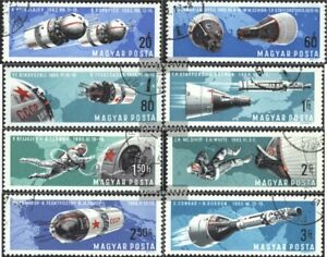 Ungarn-2299A-2306A-kompl-Ausg-gestempelt-1966-Bemannte-Weltraumfahrt