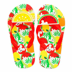 3305f440b271 NWT Disney Store Mickey Mouse Flip Flops Sandals Shoes Summer Fun