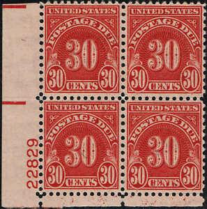 "#J85 PB 1930 30c POSTAGE DUE ""WET/EYE PRINT"" ISSUE MINT-OG/NH"