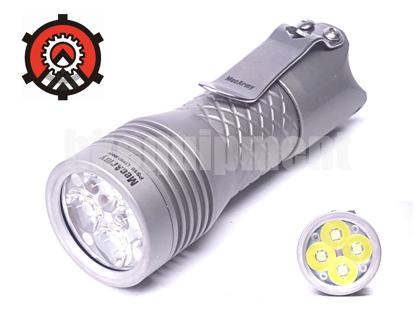 Mecarmy PS16 4x Cree XP-G3 S5 2000lm Torch Matt+USB Rechargeable Battery