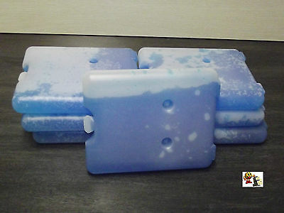 Lot de 4 accumulateurs de froid 4 x 200 g Puissance de refroidissement de 12 h Iceblock Pains de glace pour sac isotherme ou glaci/ère bleu avec accumulateur de froid et chiffon de nettoyage