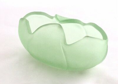 Bagley/sowerby/davidson Pottery, Porcelain & Glass Bagley Glass Company Frosted Green 'tulip' Posy Bowl 1953 Online Shop