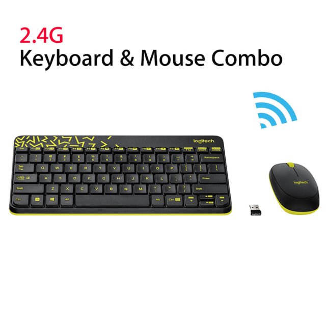 8aed5fd00c1 Logitech MK240 Nano Wireless Keyboard +Mouse Kit Plug and Play W/ Receiver  Mini