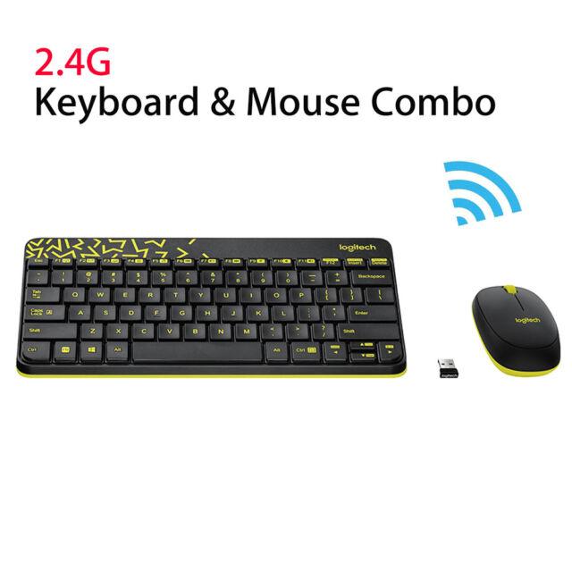 ec16385a147 Logitech MK240 Nano Wireless Keyboard +Mouse Kit Plug and Play W/ Receiver  Mini