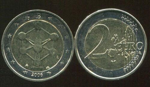 "BELGIUM 2 EUROS 2006 /""Reopening of the Brussels Atomium/"" BI-METAL UNC COIN"
