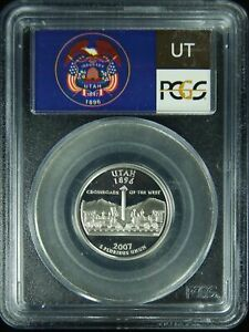 2007-S PCGS PR69DCAM Utah SILVER Statehood Quarter