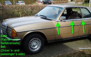 Details about Mercedes W123 C123 123 CD CE strip wheaterstrip moulding  coupe chrome trim door