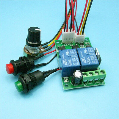 DC 6/9/12/24V 3A DC Motor Speed Controller Forward Backward Reversible Switch