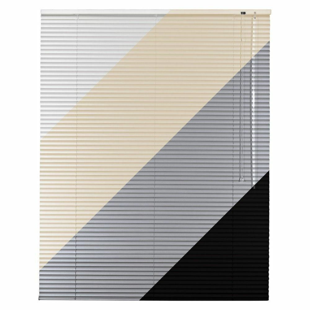 ALU alluminio tenda veneziana in Bianco Crema Nero argentoo serranda a rullo 220 cm di altezza