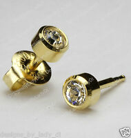 Maxi Studex 5mm Gold Clear April Gem Ear Piercing Earrings Studs