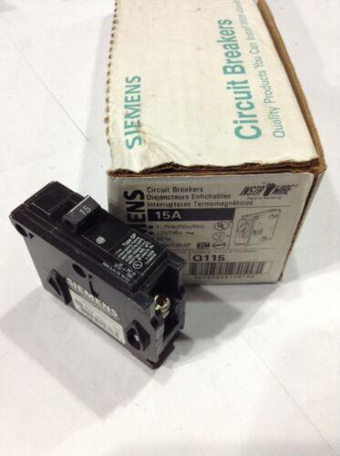 Box Of 12 ITE Q115 NEW PLUG-IN CIRCUIT BREAKER 1 POLE 15 AMP 120 VAC SIEMENS