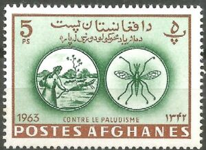 AFGHANISTAN-Eradication-of-Malaria-YT-n-746-M-Neuf-Luxe-MNH-1964