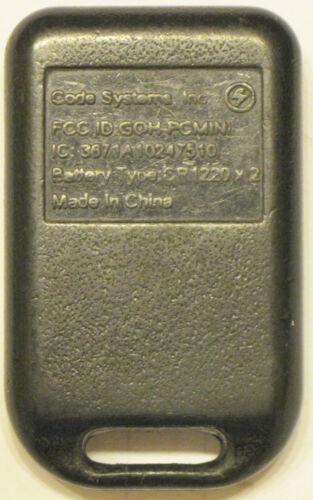 Lincoln GOH-PCMINI keyless remote entry aftermarket transmitter starter keyfob