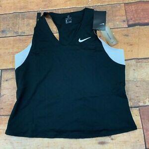 Nike-Court-womens-Maria-Slam-Tank-top-shirt-sleeveless-brand-new-size-large-blac