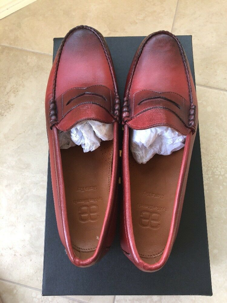 New With With With Box Allen Edmonds SIESTA KEY Penny Loafers 13 D Red Color 8a2afb