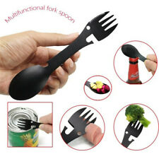 Outdoor Picnic Spork Spoon Fork Cutlery Utensil Dinner Spork w// Opener New L8M7
