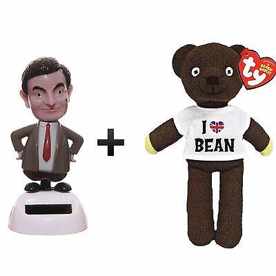 Official TY Beanie Mr Bean Teddy Bear Wearing /'I Love Mr Bean/' T-shirt