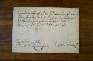 Details about Braunschweig 1704 Faltbrief aus Wendeburg an Herzog Anton Ulrich mit Inhalt