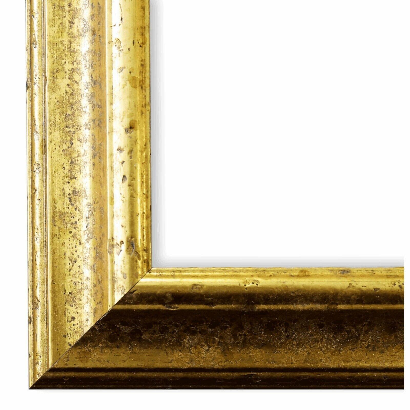Bilderrahmen Genua Gold - 80x80 80x90 80x100 80x120 90x90 90x100 100x100