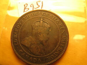 Canada-Rare-1907-H-Large-Cent-ID-951