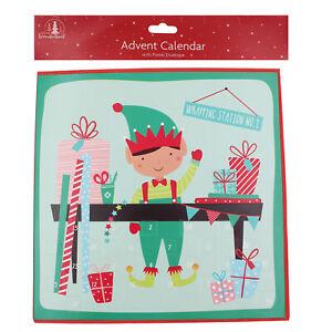 Countdown Natale.Details About Tallon Paper Christmas Advent Calendar 24 Windows 2961 Elf Design Show Original Title