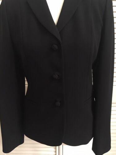e Ann nero Blazer senza pezzo maniche Taylor Dressy Euc Top Size Blazer 2 4 Jacket 8nxI8qr