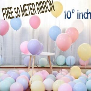 10-034-INCH-Pastel-Balloons-Helium-amp-Air-Quality-Ballons-COLOURS-Baloons-Birthday