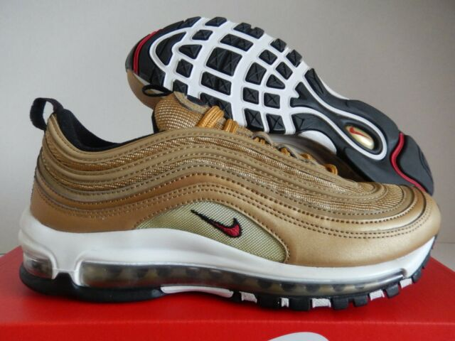 new concept 143b3 c562a Nike Air Max 97 OG QS Metallic Gold Varsity Red 884421-700 Size 7.5