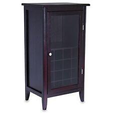 6 Bottle Wood Wine Cabinet Storage Liquor Rack Holder Home Bar Decor Display