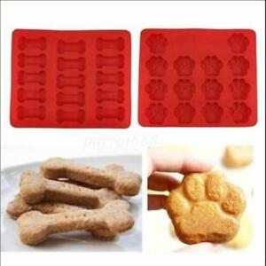 Animal Dog Paw Print Silicone Chocolate Ice Molds Sugarcraft Cake Soap Mould N3