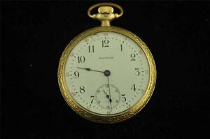 Vintage 16 Size P.s Bartlett Waltham Pocket Watch Movement Antique Not Running