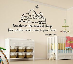 Image Is Loading Winnie The Pooh Smallest Things Nursery Wall Art