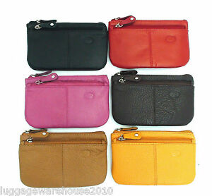 Ladies-Leather-Coin-Purse-Keys-Cards-Colours-Black-Red-Pink-Yellow-Brown-Large