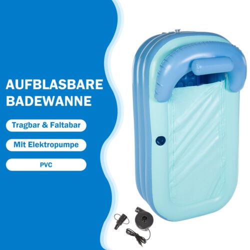 Aufblasbare Badewanne Spawanne Mobile Duschbadewanne Bade Elektropumpe