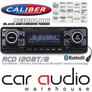 Car Stereos Head Units Caliber Rcd120bt B Retro Style Classic