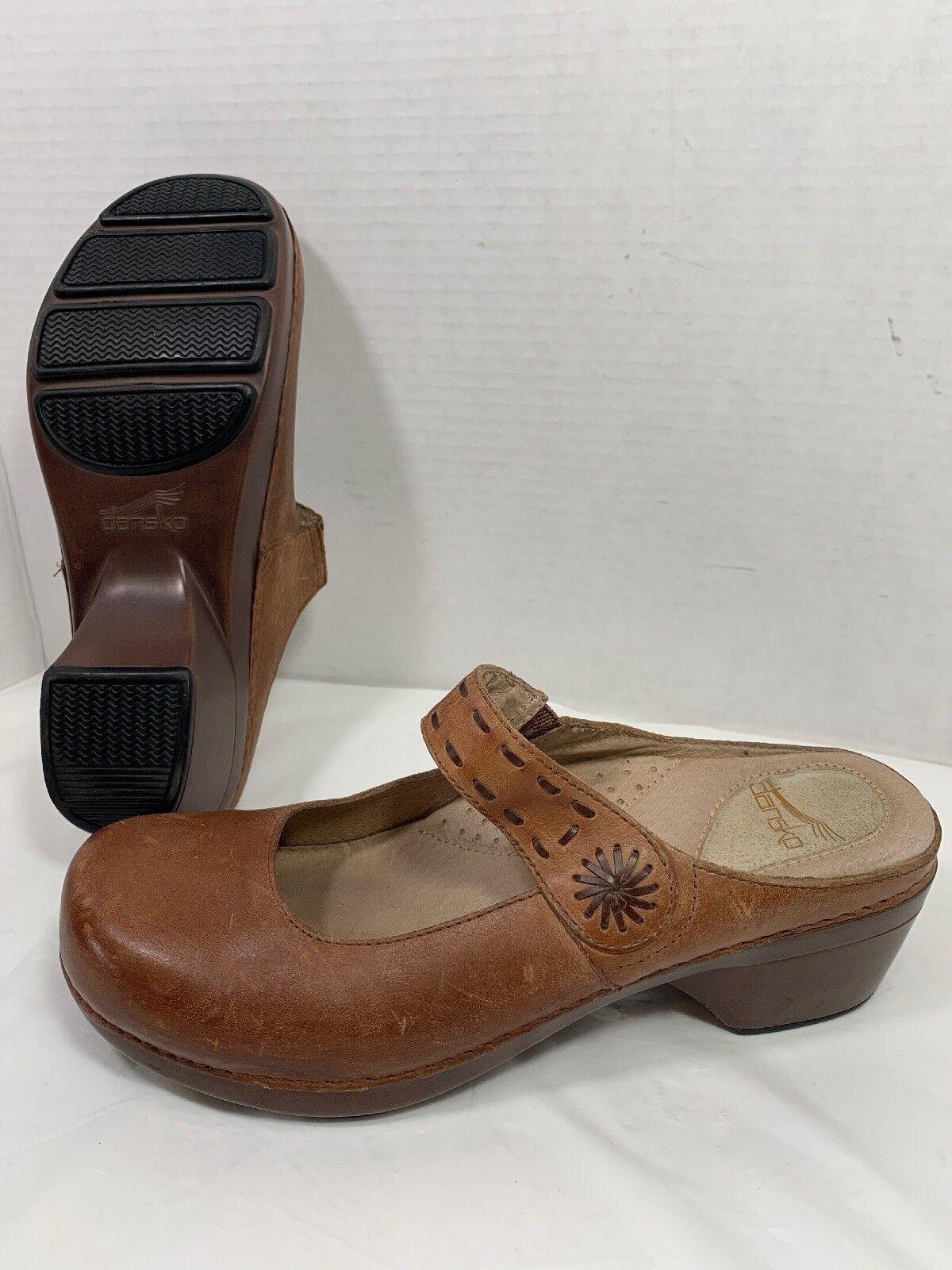 Dansko Leather Mary Jane Professional Professional Professional work Clogs damen braun Größe 40 US 9.5-10 e3b3e4