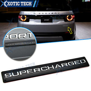 For Range Rover Land Rover Sport SUPERCHARGED Trunk Badge Emblem Black Alloy